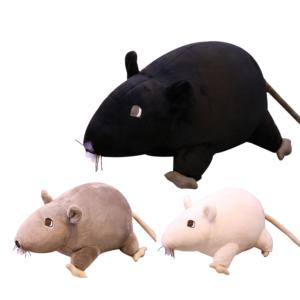 Realistická plyšová myš ve třech barvách