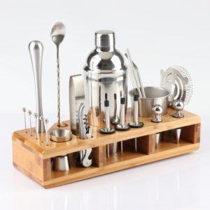 Sada barmanských nástrojů z nerezové oceli - 23 ks