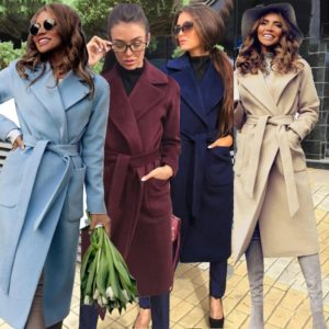 Dámský podzimní elegantní kabát