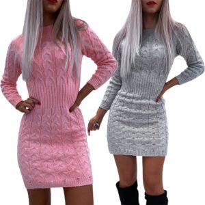 Dámské pletené šaty nad kolena