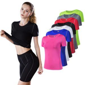Dámské fitness tričko s krátkým rukávem