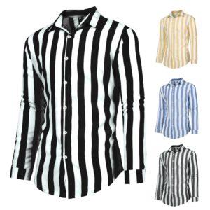 Pánská módní pruhovaná košile