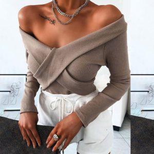 Dámský luxusní svetr s výstřihem Monica
